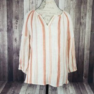BeachLunchLounge Reese Cotton Blouse in Sunset